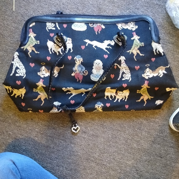 Brighton Handbags - Over sized Brighton purse.  Doggie Print